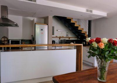 cuisine et salle à manger du gîte
